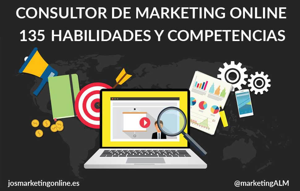 Consultor de marketing online, 135 habilidades y competencias.
